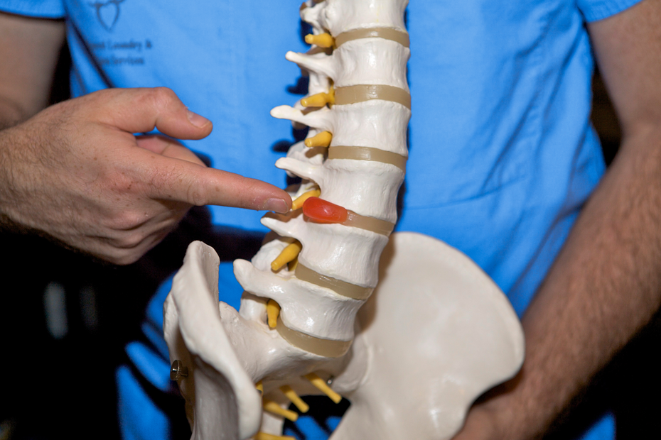 HERNIATED DISC (SLIPPED DISC) contraindications In beauty therapy